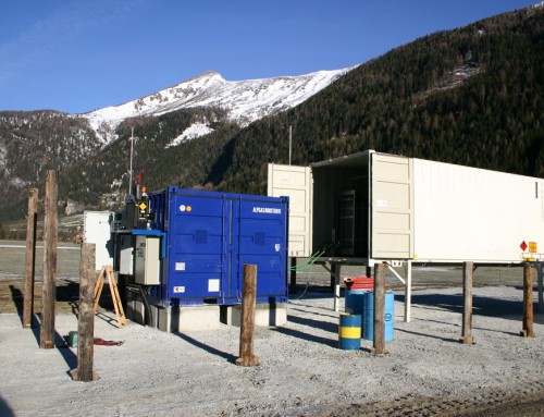 10' container in the Austrian Alps