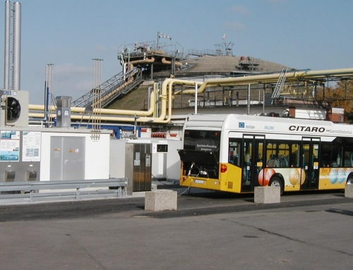 Hydrogen bus station in Stuttgart